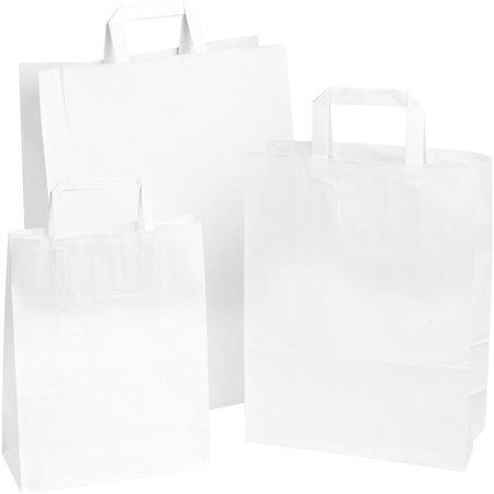Draagtassen Papier Wit 220 x 100 x 280mm Horecavoordeel.com