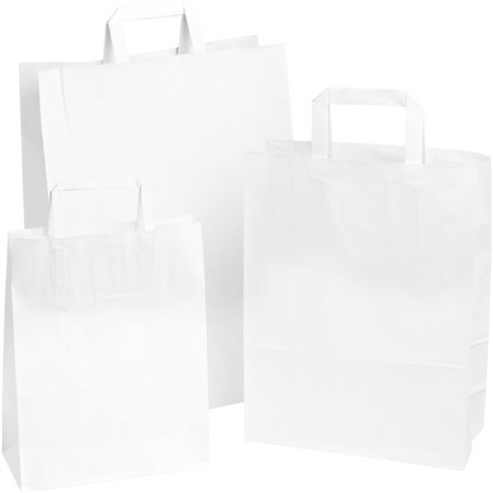 Draagtassen Papier Wit 320 x 180 x 260mm Horecavoordeel.com