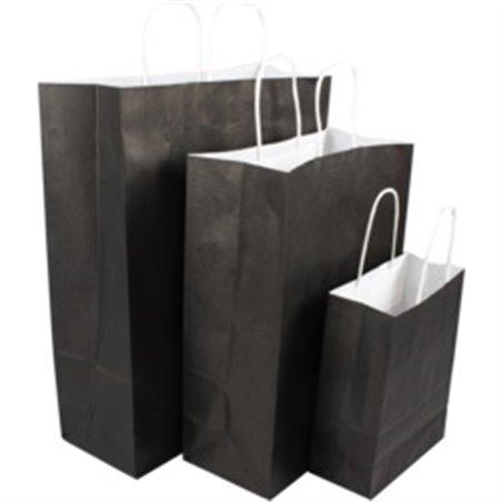 Paper carrying Bags Black 45x17x33cm Twisted Cord - Horecavoordeel.com
