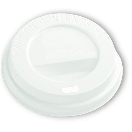 Deksels Wit voor Koffiebekers To Go 8-9oz Ø 80mm (Klein-verpakking) Horecavoordeel.com