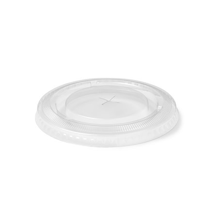 Lid for Juice Cup 95mm Flat transparent with Cross hole - Horecavoordeel.com