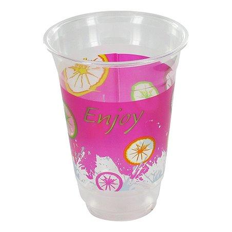 """Milkshake Bekers 300ml Plastic """"Enjoy"""" Horecavoordeel.com"""