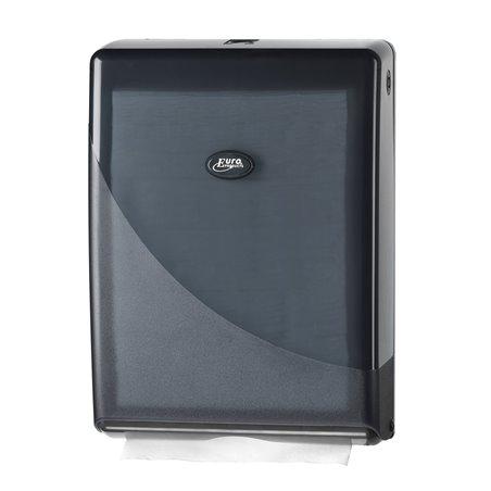 Handdoekdispenser Euro Mini Fold Pearl Black Horecavoordeel.com