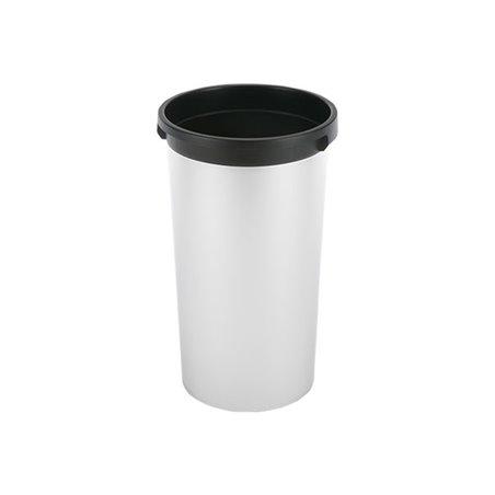 Afvalbak Rond Vileda Iris Metallic zwart 50 Liter Horecavoordeel.com