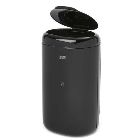 Afvalbak Tork 5 Liter Met Deksel Zwart Horecavoordeel.com