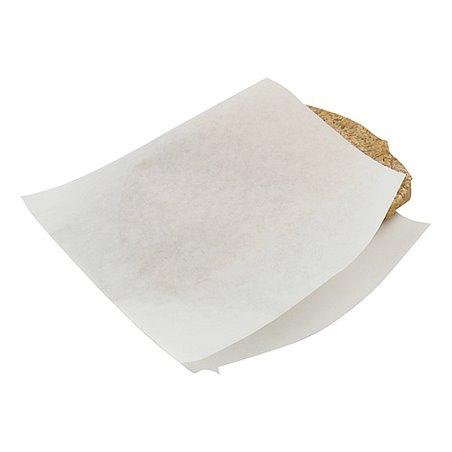 Shoarma Zakjes Papier Wit Ersatz 150 x 150mm Horecavoordeel.com