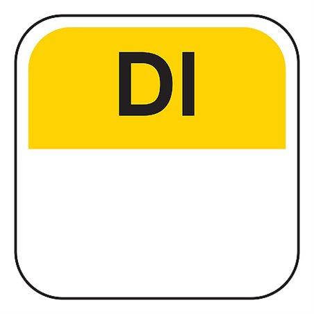 Dagstickers Dinsdag 19 x 19mm Geel - Zwart Horecavoordeel.com