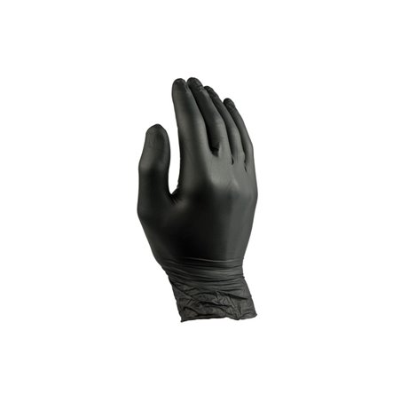 Handschoenen Nitril Zwart Poedervrij Large Pro Horecavoordeel.com