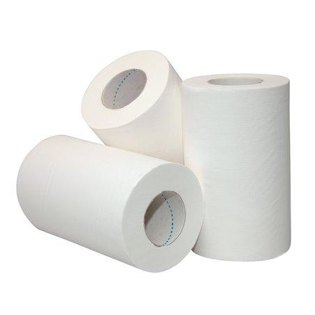 Poetsrol Mini Recycled Wit Met Koker 1laags 20cm x 120m Horecavoordeel.com
