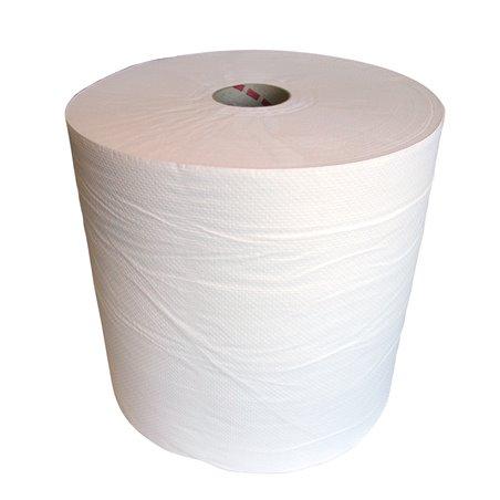 Poetsrol Cellulose (EM) 1 Laags Wit 700m x 26cm Horecavoordeel.com