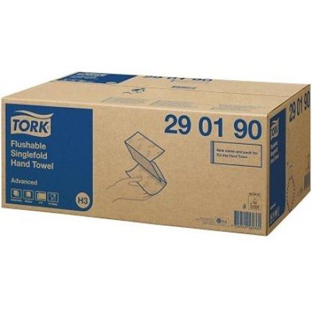 Handdoek Z-vouw Tork 2 Laags 25x23cm 290190 Horecavoordeel.com