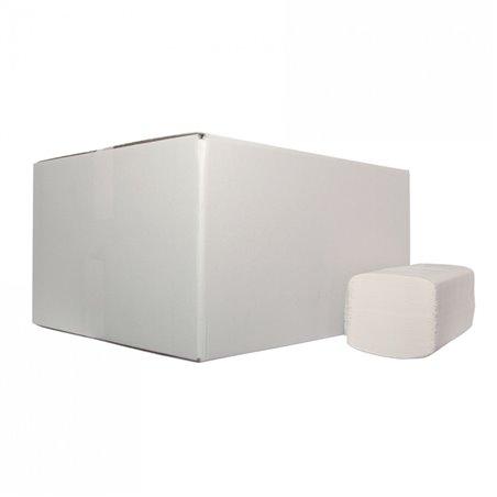 Handdoekjes Z-vouw (EM) Tissue Wit 2-laags 21x24cm Horecavoordeel.com