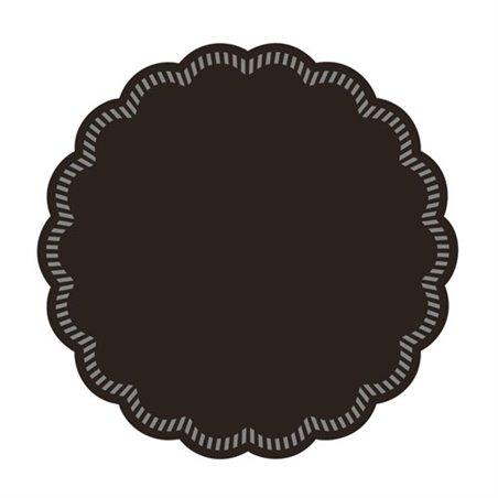 Onderzetter Zwart Cellulose 8 Laags 90mm Horecavoordeel.com