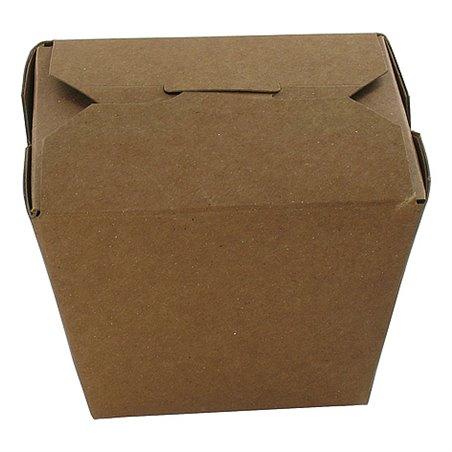 Kartonnen Bakken 750ml 26oz Fold-pak Earth Recycled Bruin 79 x 67 x 101mm Horecavoordeel.com